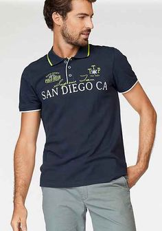 TOM TAILOR Polo Team Poloshirt mit Frontprint | OTTO Polo Rugby Shirt, Polo Team, Toms, Le Polo, Tom Tailor, Polo Ralph Lauren, Shirts, Mens Tops, David