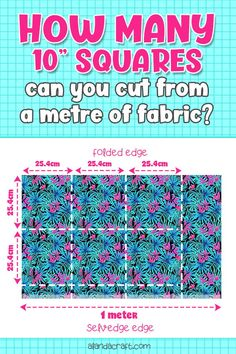 Find out how many layer cake squares you can get from a metre of fabric. How many metres would you need to create a complete layer cake pack? Quilting For Beginners, Quilting Tutorials, Quilting Projects, Quilting Designs, Jellyroll Quilts, Easy Quilts, Diy Sewing Projects, Sewing Projects For Beginners, Work This Out