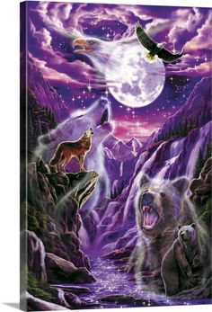 Native American Wolf, Native American Pictures, Native American Artwork, Eagle Pictures, Wolf Pictures, Adler Tattoo, American Wallpaper, Native American Spirituality, Wolf Artwork