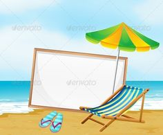 Beach with Empty Whiteboard ...  advert, advertisement, angle, beach, blank, board, copyspace, corners, edges, empty, frame, hot, menu, poster, quadrilateral, rectangle, rectangular, sand, sea, seashore, seaside, shore, shoreline, sides, sign, signage, signboard, space, sun, template