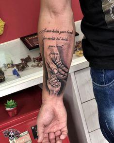 Tribute to Son Tattoo- Homenagem ao filho Tattoo Hand Tattoo For Child Tribute - Father Son Tattoo, Father Tattoos, Tattoo For Son, Tattoos For Kids, Family Tattoos, Tattoos For Daughters, Forearm Tattoo Quotes, Forarm Tattoos, Forearm Sleeve Tattoos