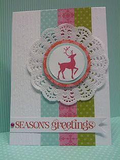 Gorgeous reindeer christmas card