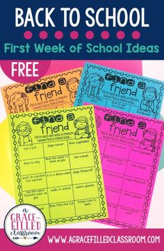 FREE Back to school ideas and activities. Get to know your students and community building activity! back to school hairbows, back to school preschool ideas, back to school printables free Community Building Activities, Building Classroom Community, Get To Know You Activities, First Day Of School Activities, 4th Grade Activities, Movement Activities, Motor Activities, Educational Activities, Physical Activities