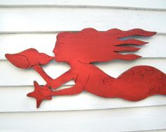 Fish Skeleton Sign Wooden Fish Art Beach Cottage by HavenAmerica