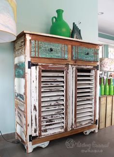 Uniquely made furniture from reclaimed wood from old Curacao mansions that have been renovated.