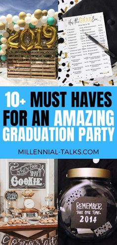 13 Graduation Party Ideas You Need To Try - Millennial Talks Graduation Party Desserts, Graduation Party Decor, Spa Birthday Parties, A Little Party, Graduation Pictures, Decor Ideas, Booth Ideas, Sweet 16, Photo Booth