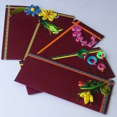 Check out this item in my Etsy shop https://www.etsy.com/listing/241262738/beautiful-quilling-decorative-envelopes Paper Quilling Designs, Quilling Cards, Quilling Flowers, Quilling Patterns, Paper Flowers, Money Envelopes, Paper Envelopes, Wedding Envelopes, Gift Envelope