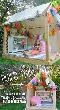 16 16 kreative Kids aus Holz Spielhäuser Designs für Ihren Hof (12)