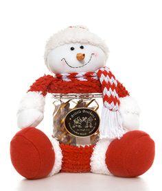 12 oz. of Brittle in a Plush Snowman Jar