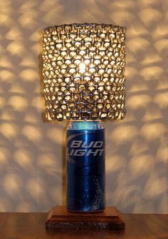 Bud Light Beer Can Lamp With Pull Tab Lampshade  by LicenseToCraft, $37.00