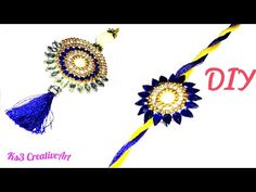 How to make rakhi Rakhi Bracelet, Handmade Rakhi Designs, Craft From Waste Material, Rakhi Making, Raksha Bandhan, Silk Thread, Rakhi 2017, Crochet Necklace, Sleeping Bags