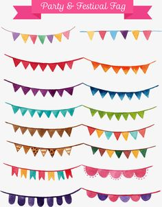 Party Decorations,Christmas decoration Bunting,Small flags,Vector
