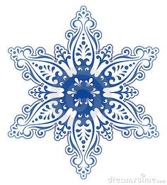 Decorative Snowflake Ornament Vector