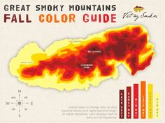 Guide to the best time to visit Gatlinburg TN to see the fall colors.