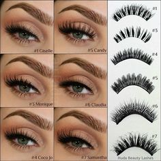 Types of false eyelashes #makeup #beauty #mua: