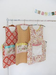 look at those pinnies!! I love the one on the right!! dottie angel.