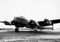 Modified Avro Lancaster; Photograph of a modified Avro Lancaster of 617 Squadron carrying a 22,000-pound bomb. These specially modified Lancasters could carry the 12,000 and 22,000-pound bombs which were used against the V-weapon bases and the battleshipTirpitz.