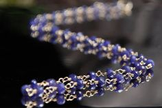Blue Sapphire Necklace Sapphire Rosary Style by maggiesjewelry,
