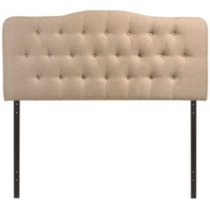 Modern Upholstered, Button Tufted, Arched Padded Fabric and Vinyl Headboards