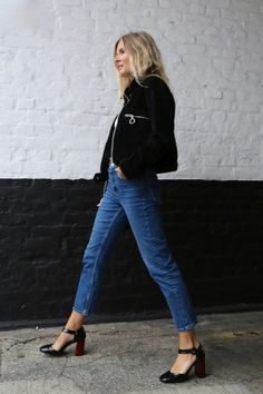 Black Jacket with Denim | Street Style | LA COOL & CHIC