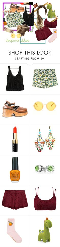 """""""Georgie #9"""" by thewhoreofcookies ❤ liked on Polyvore featuring American Eagle Outfitters, Linda Farrow, Bobbi Brown Cosmetics, OPI, Bling Jewelry, STELLA McCARTNEY, Charlotte Russe, Gund, bohogirl and mayorgie"""
