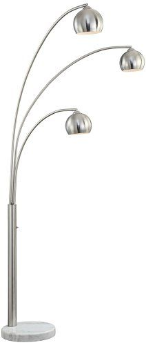 Pacific Coast Lighting Crosstown 3 Light Arc Floor Lamp in Nickel >>> BEST VALUE BUY on Amazon