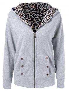 GET $50 NOW | Join RoseGal: Get YOUR $50 NOW!http://www.rosegal.com/plus-size-hoodies/plus-size-zipper-leopard-pullover-906571.html?seid=3634767rg906571