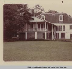 Rear view of main house at Melrose Plantation in Natchitoches Louisiana :: State Library of Louisiana Historic Photograph Collection