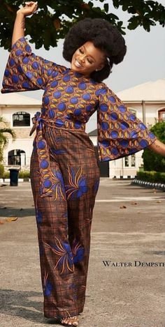 Couple Goals - Make a Statement in These Stylish African Outfits - kahve Latest African Fashion Dresses, African Dresses For Women, African Print Dresses, African Print Fashion, Africa Fashion, African Attire, African Women, African Outfits, African Print Jumpsuit