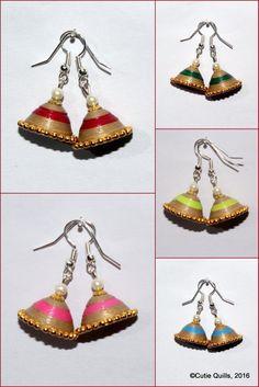 Paper quilling - earrings , jhumkas