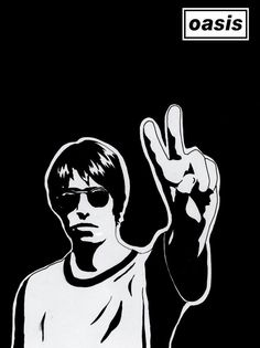 Lennon Gallagher, Liam Gallagher Oasis, Noel Gallagher, Music Silhouette, Oasis Music, Liam And Noel, Oasis Band, Vintage Pop Art, Beady Eye