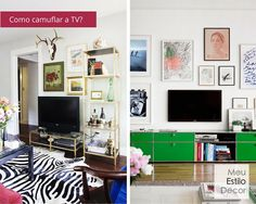 5 dilemas de decoração resolvidos • Como camuflar a TV