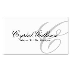 Elegant Monogram Business Card Template