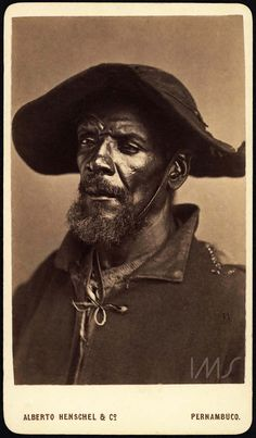 Alberto Henschel_portrait of a middle-aged man with hat_from the series Tipos negros_around 1869 Old Photos, Vintage Photos, Brazilian Men, African Diaspora, People Of The World, Black People, Historical Photos, Black Art, Hats For Men