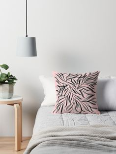 millennial Pink Throw pillow
