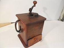 PRIMITIVE 1800's UNKNOWN MAKER TALL COFFEE GRINDER - COFFEE MILL - BOX MILL