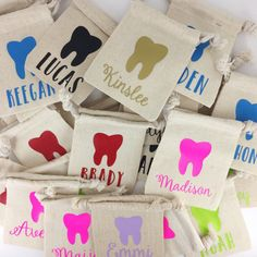 Personalized Tooth Fairy bag // Toothfairy // by HouseOfJars