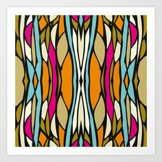 MANOLO_BRIGHTS Art Print by patternaddict - $15.00