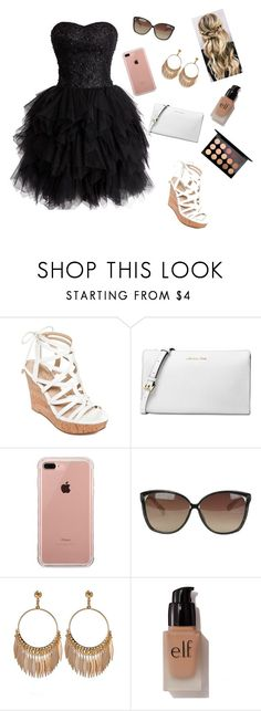 """""""Red carpet look"""" by emiliew2004 ❤ liked on Polyvore featuring GUESS, Michael Kors, Belkin, Linda Farrow, e.l.f. and MAC Cosmetics"""