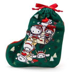 Sanrio X'Mas sock (^O^☆♪ アフターユース出来てうれしい、かわいい巾着入り★ツリーに飾ってもかわいいね♪