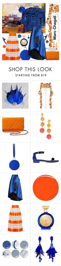 """""""Marc Chagall: When Art Meets Fashion"""" by zouus ❤ liked on Polyvore featuring Marc, E L L E R Y, Chanel, Armitage Avenue, Diane Von Furstenberg, Badgley Mischka, RGB Cosmetics, Delpozo, Boadicea the Victorious and Royal Doulton"""