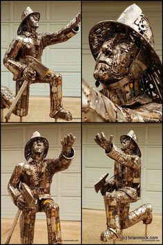 Brian Mock Artist | Recycled sculpture created by Brian Mock