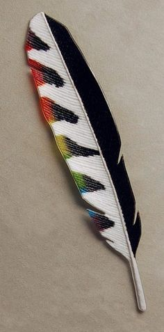 Rainbow Woodpecker Feather by Michael Dupille (Art Glass Wall Sculpture) Feather Painting, Feather Art, Feather Design, Indian Feathers, Bird Feathers, Painted Feathers, Mosaic Glass, Fused Glass, Feather Crafts