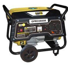 Genyx GPR2O800R Groupe électrogène de chantier avec kit de roues puissance nominale/maximale 2500 W/2800 W