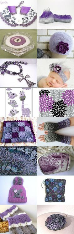 Purple and gray for the last day of may. by Eva M Hermida on Etsy--Pinned with TreasuryPin.com