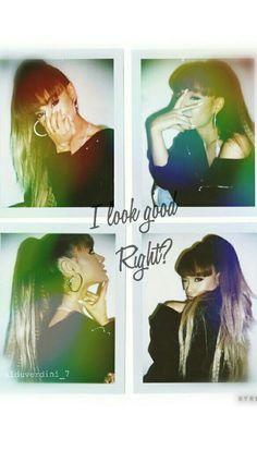 "Lockscreen de Ariana Grande ""I look good Right?"" // Fondo de Pantalla de Ariana Grande ""I look good right?""(Hecho por mi"