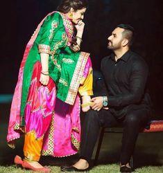Love her salwaar not the suit. Punjabi Wedding Couple, Indian Wedding Couple Photography, Wedding Couple Photos, Punjabi Couple, Couple Photography Poses, Pre Wedding Photoshoot, Wedding Couples, Punjabi Girls, Punjabi Bride