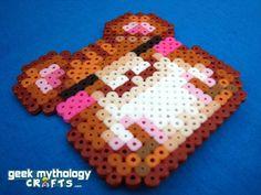 Cute Anime Hamster Perler Bead Sprite by GeekMythologyCrafts, $4.50