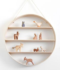 How incredible are these hand crafted wooden shelves? To find, just search 'circle shelf' on our site.