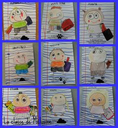 Portrérajz Preschool Body Theme, Preschool Art, Painting For Kids, Drawing For Kids, Art For Kids, Portraits For Kids, Classe D'art, September Themes, Speed Art